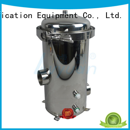 stainless steel bag filter housing with fin end cap for food and beverage Lvyuan