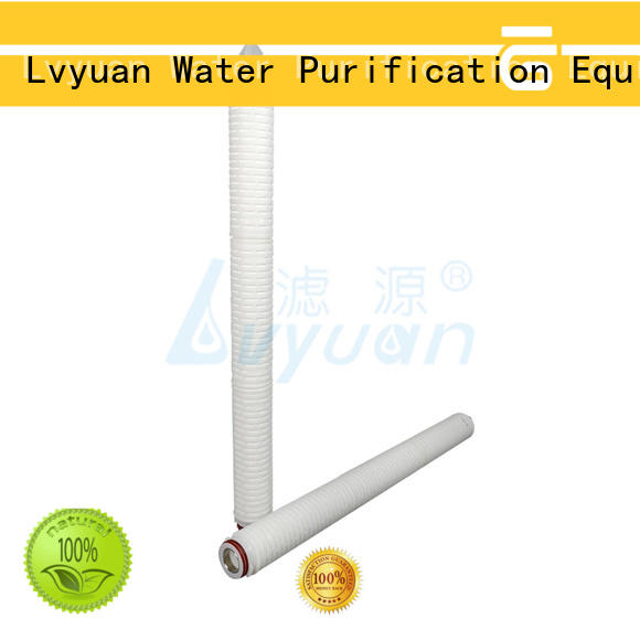 pvdf pleated filter manufacturers with stainless steel for food and beverage