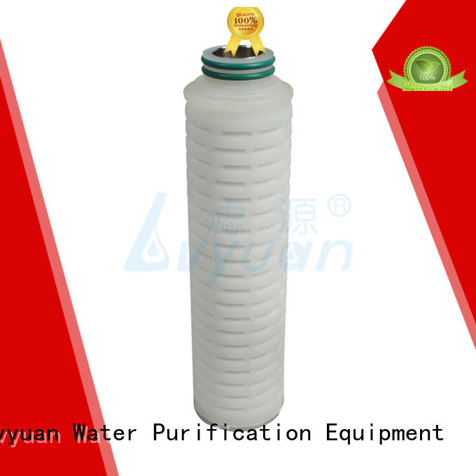 Lvyuan membrane pleated filter cartridge suppliers manufacturer for organic solvents