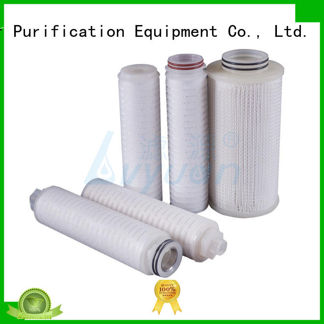 Lvyuan pes pleated water filter cartridge manufacturer for sea water desalination