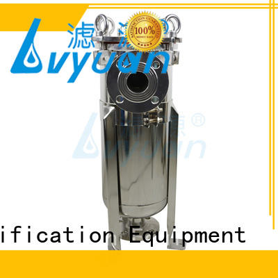 high end stainless water filter housing with fin end cap for oil fuel