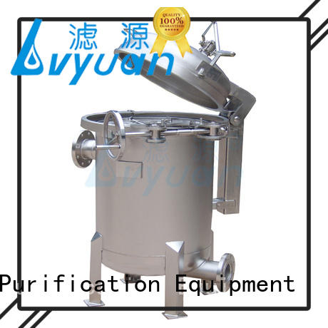 Lvyuan efficient ss bag filter housing with fin end cap for food and beverage