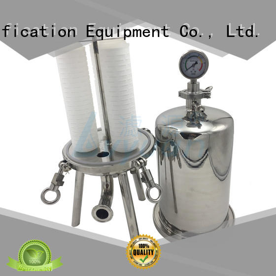 Lvyuan stainless steel filter housing with fin end cap for food and beverage