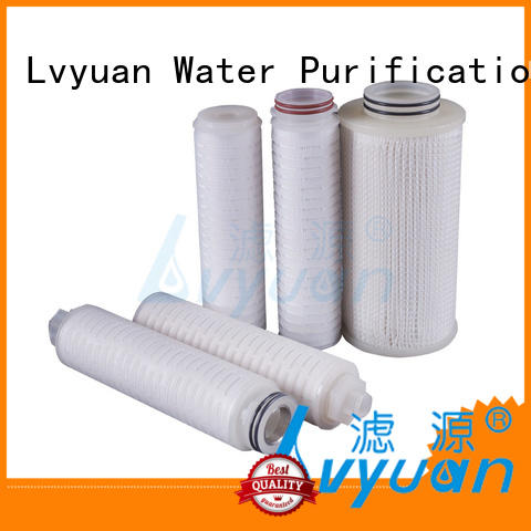 water pleated filter element supplier for liquids sterile filtration