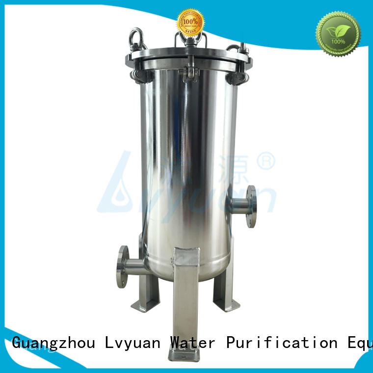 Lvyuan titanium stainless steel cartridge filter housing with core for sea water desalination