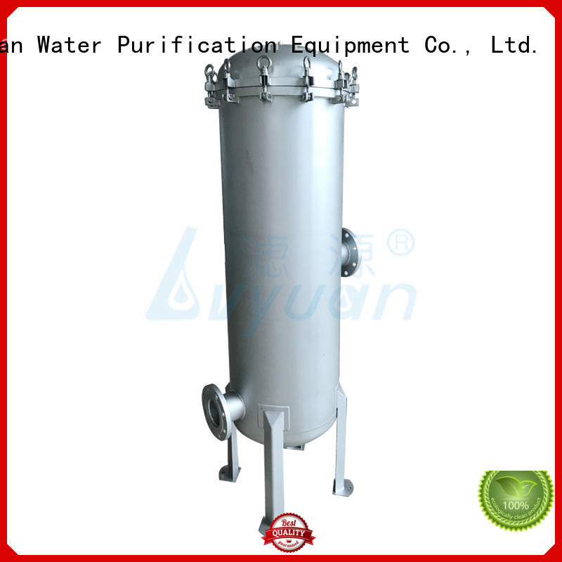 Lvyuan efficient stainless steel cartridge filter housing rod for food and beverage