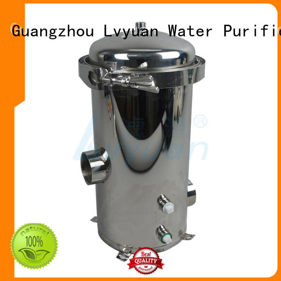 Lvyuan high end stainless steel filter housing with fin end cap for sea water desalination