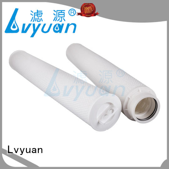 40 inch High flow pleated cartridge filter for industrial liquid filtration