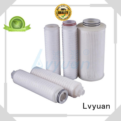 Lvyuan pleated water filter cartridge supplier for sea water desalination