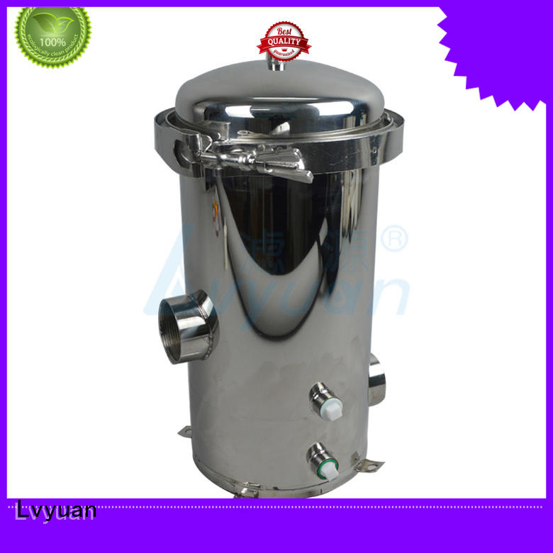 Lvyuan ss bag filter housing with fin end cap for food and beverage