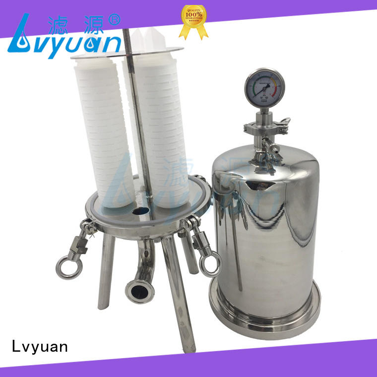 Lvyuan titanium stainless water filter housing with fin end cap for sea water treatment