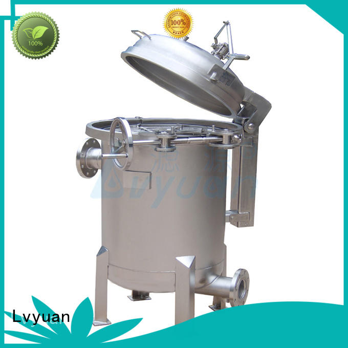 Stainless steel multi bag filter housing for water treatment