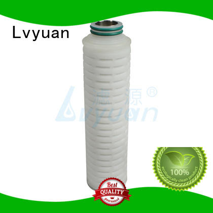 Lvyuan pvdf pleated filter cartridge suppliers manufacturer for food and beverage