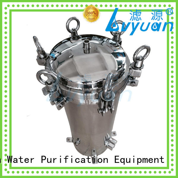 professional stainless steel cartridge filter housing with core for food and beverage