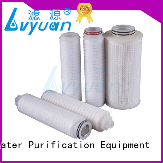 Lvyuan water pleated filter supplier for organic solvents