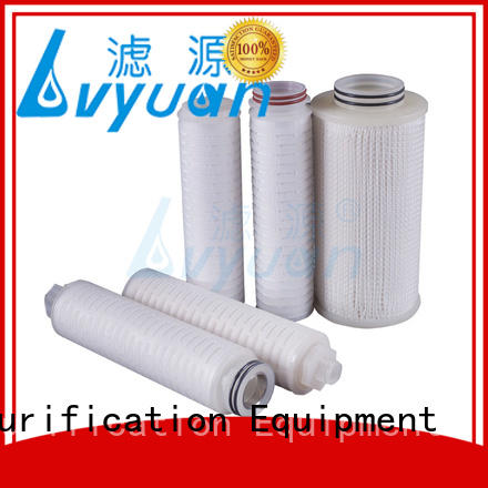 ptfe pleated water filters with stainless steel for food and beverage