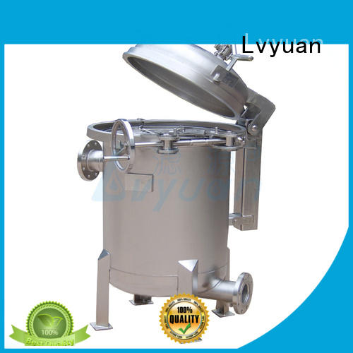 steel stainless steel bag filter housing with treatment