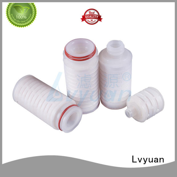 Lvyuan pvdf pleated filter cartridge supplier for sea water desalination