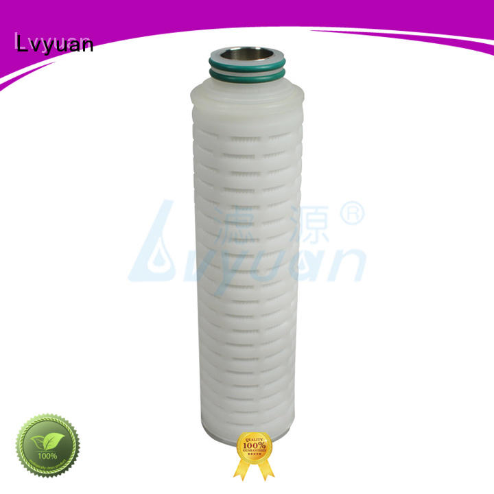 Lvyuan replacement pleated water filters steel for