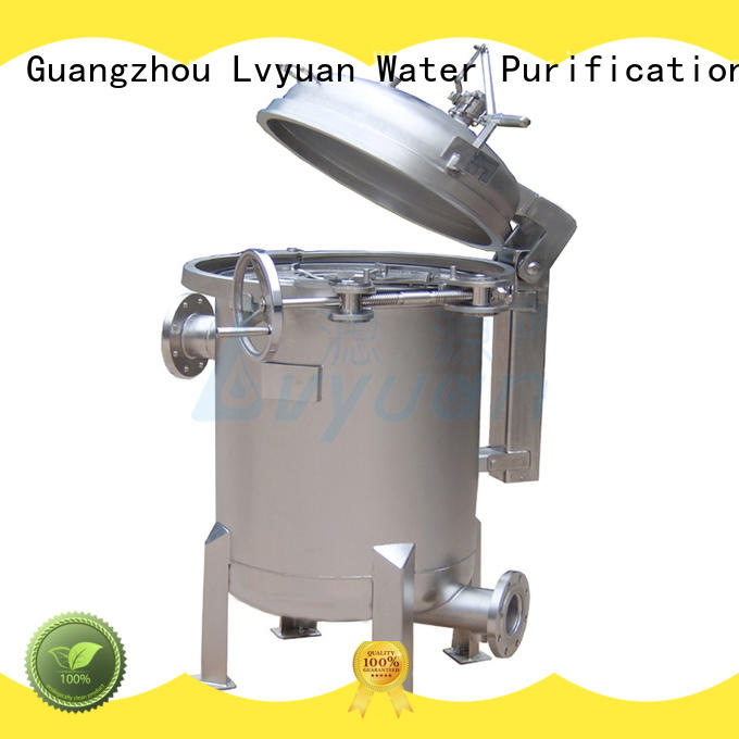 Lvyuan ss bag filter housing with fin end cap for sea water desalination