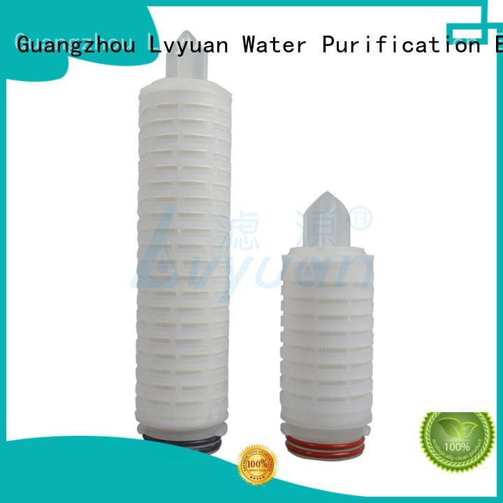 Lvyuan 20 micron pleated water filter supplier for industry