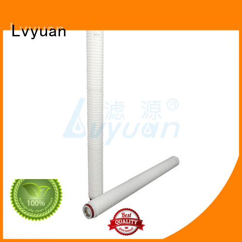 Lvyuan pvdf pleated filter manufacturers with stainless steel for liquids sterile filtration