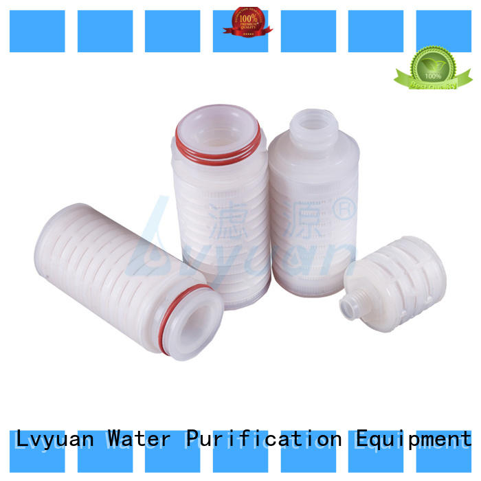 pes pleated polyester filter cartridge with stainless steel for food and beverage
