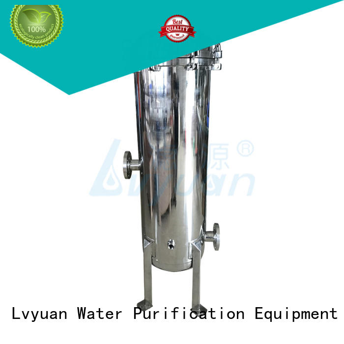 Lvyuan titanium water filter housing with fin end cap for sea water treatment