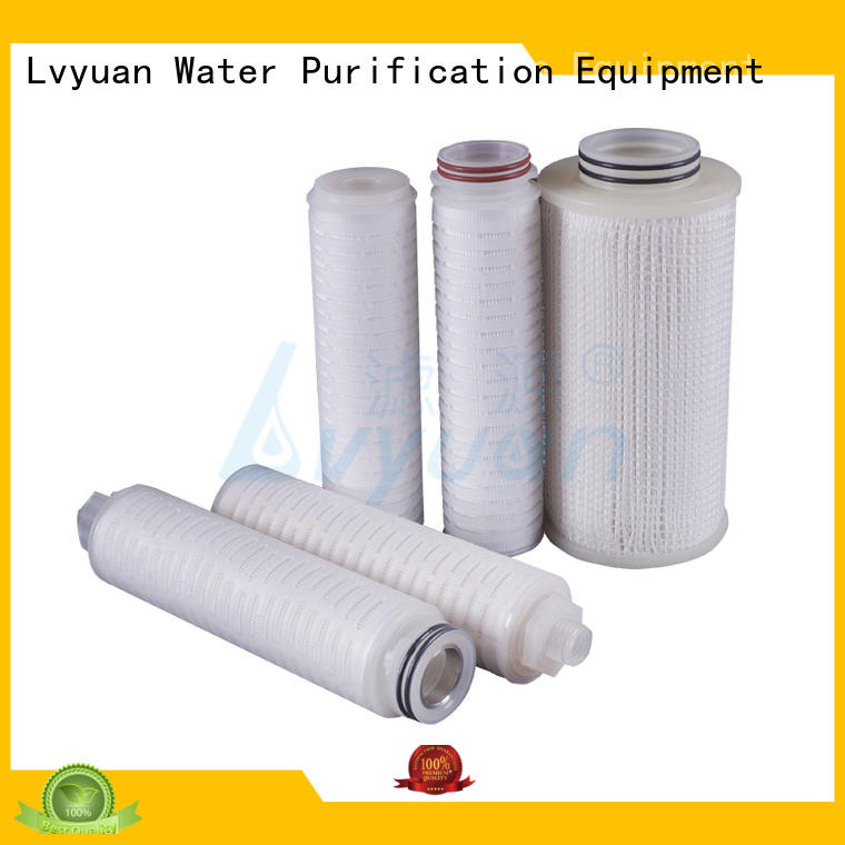 pleated polypropylene filter cartridge manufacturer for organic solvents Lvyuan