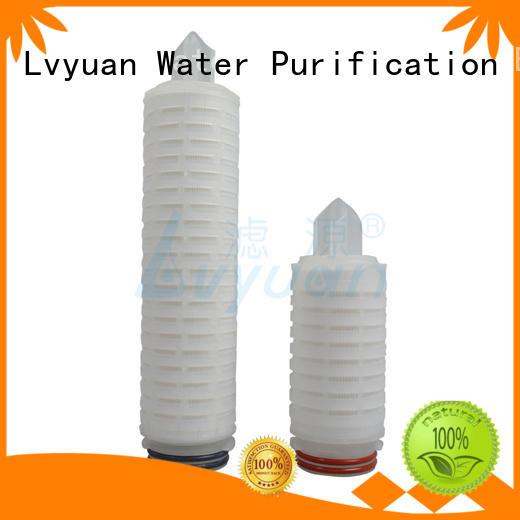 Lvyuan pleated pleated polypropylene filter cartridge steel sale