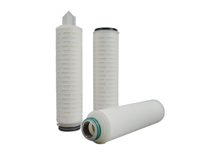 PTFE membrane pleated water filter cartridge with internal stainless steel reinforcing ring-2