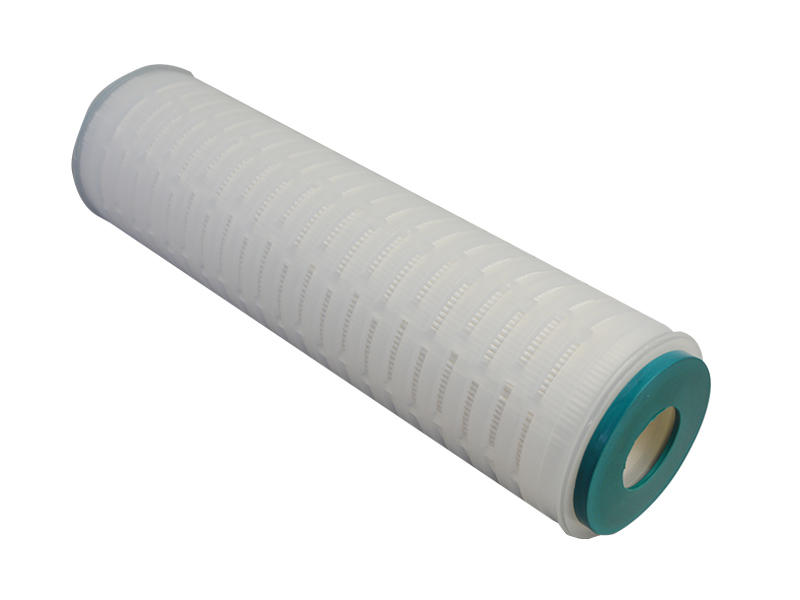 PTFE membrane pleated water filter cartridge with internal stainless steel reinforcing ring-3