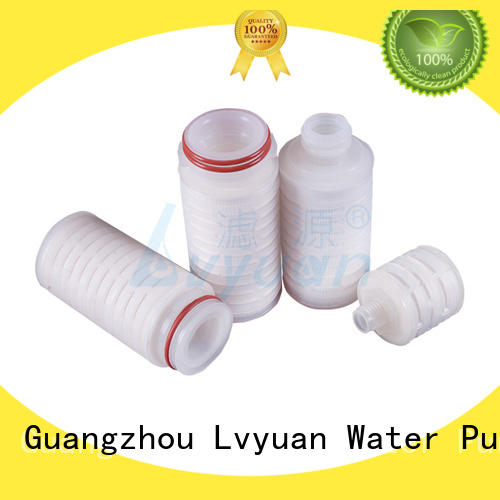 Lvyuan pleated filter cartridge suppliers with stainless steel for sea water desalination