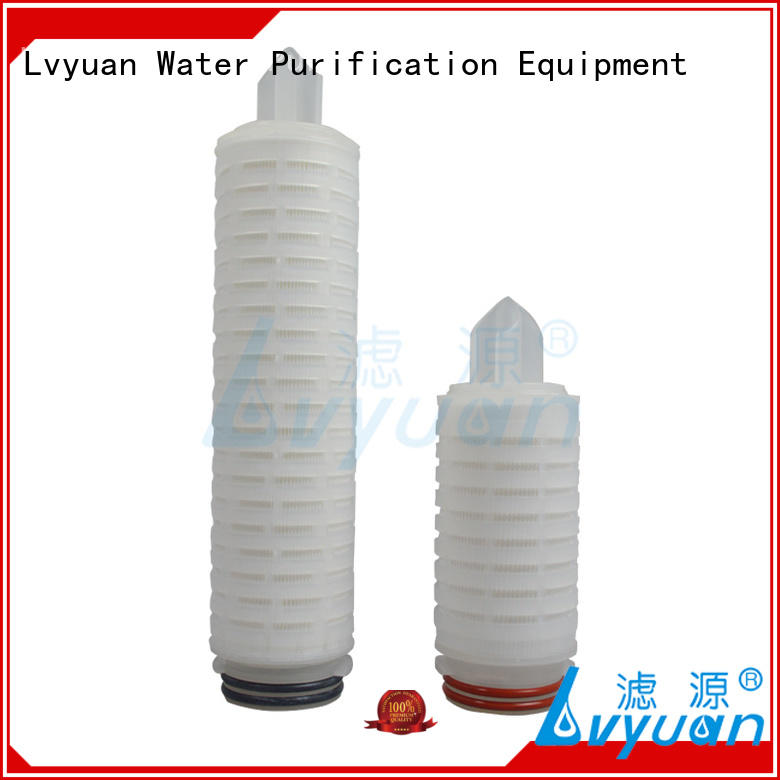 Lvyuan ptfe pleated polyester filter cartridge for liquids sterile filtration