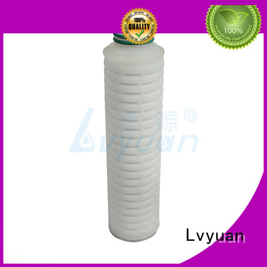Lvyuan pes pleated water filter cartridge replacement for food and beverage