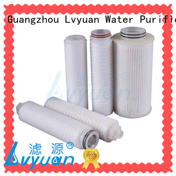 pleated water filters for organic solvents Lvyuan