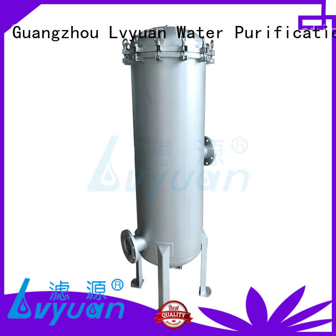 Lvyuan efficient stainless steel cartridge filter housing with fin end cap for sea water desalination
