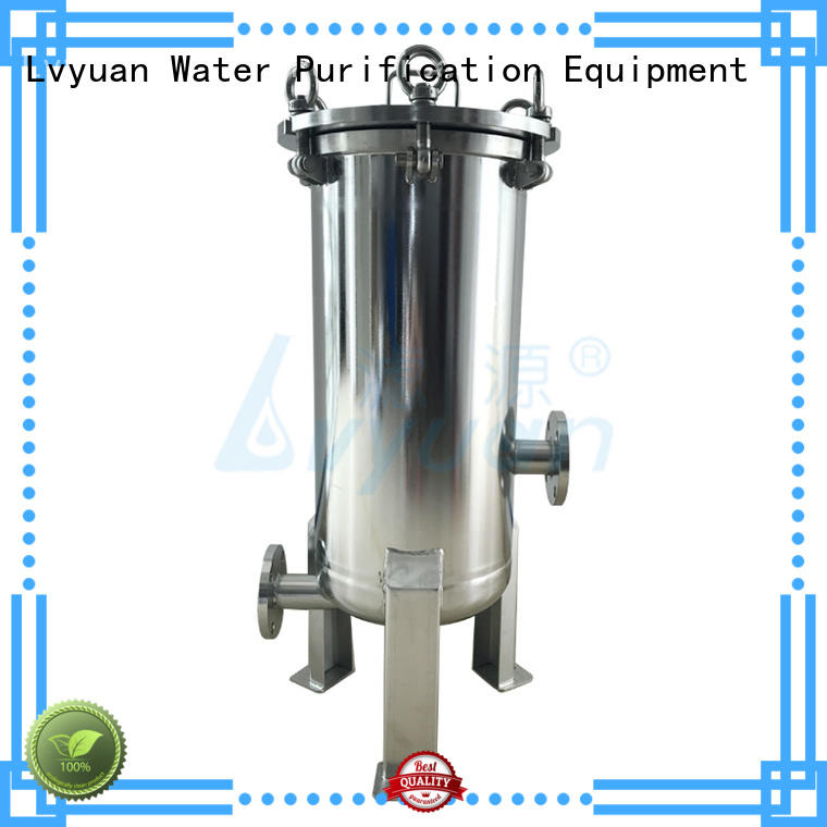 high end stainless steel cartridge filter housing with core for industry Lvyuan