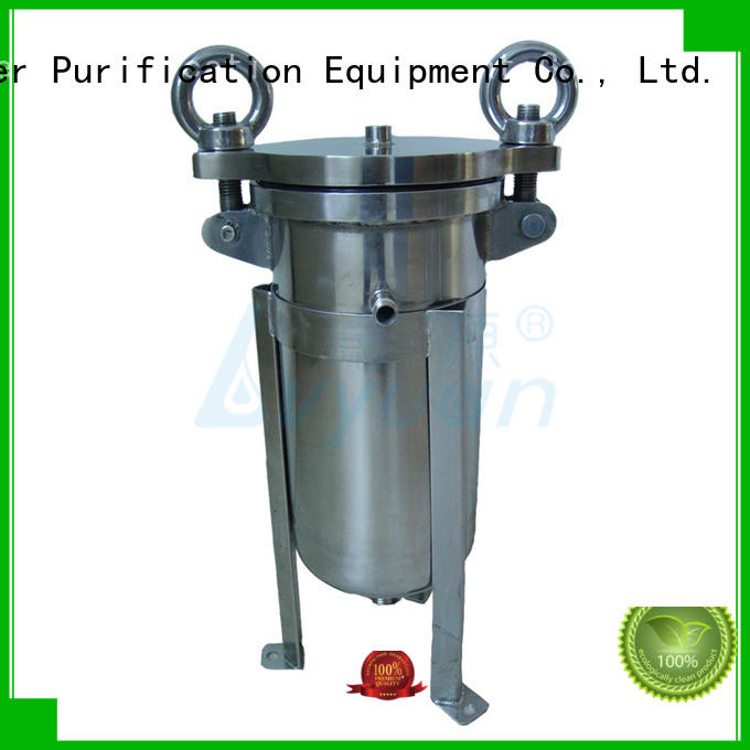 efficient stainless steel bag filter housing with fin end cap for sea water treatment