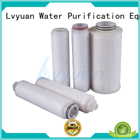 Lvyuan pleated filter element with stainless steel for food and beverage