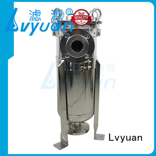 Lvyuan high end stainless steel water filter housing with core for food and beverage