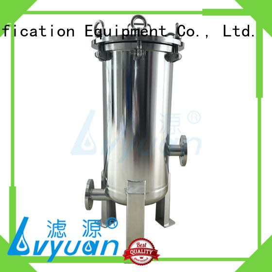 Lvyuan stainless water filter housing with fin end cap for sea water treatment