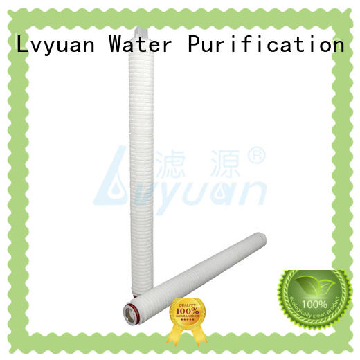 Lvyuan high quality high efficiency pleated filters manufacturer for organic solvents
