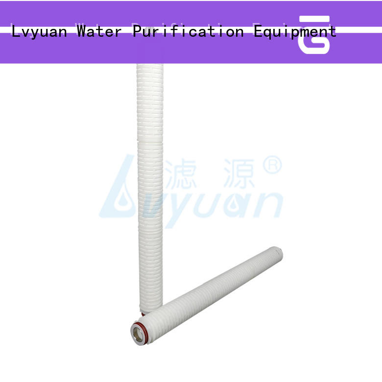 best pleated filter sizes with stainless steel for liquids sterile filtration Lvyuan