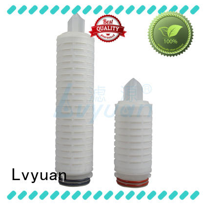 Lvyuan pvdf pleated water filter cartridge replacement for sea water desalination