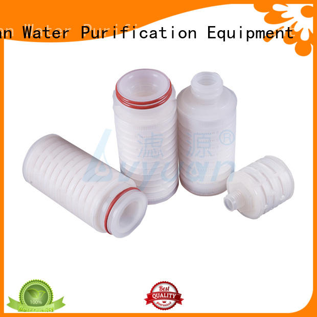 water pleated filter cartridge suppliers with stainless steel for liquids sterile filtration