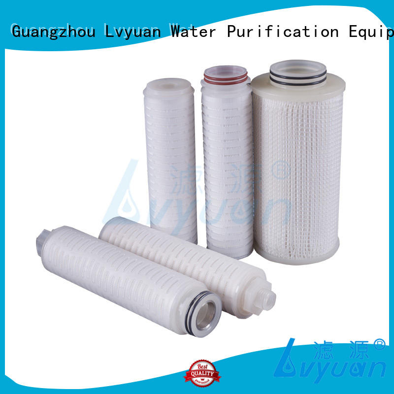 Lvyuan pvdf pleated filter cartridge hot sale for food and beverage