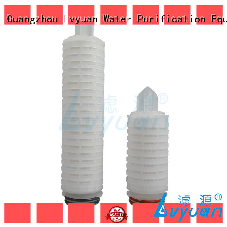 Lvyuan pvdf pleated filter sizes with stainless steel for food and beverage