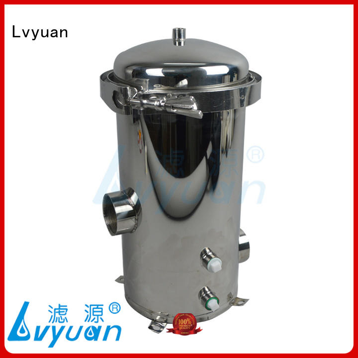 high end stainless water filter housing efficient for food and beverage Lvyuan