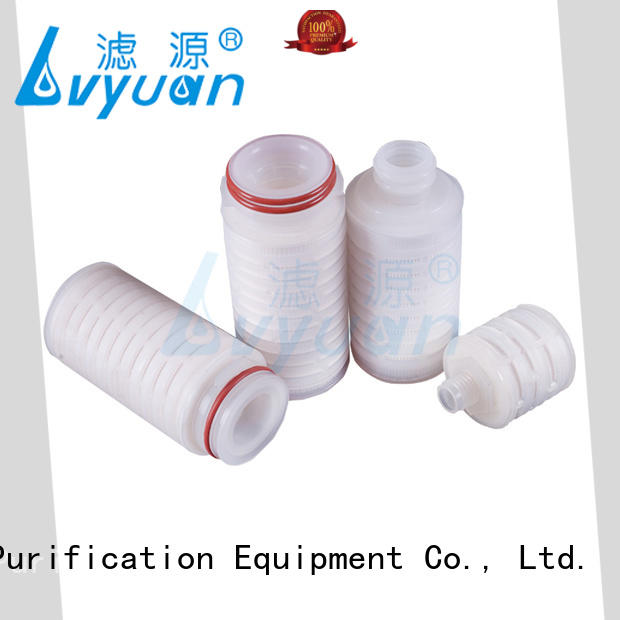 Lvyuan pes pleated water filters supplier for liquids sterile filtration